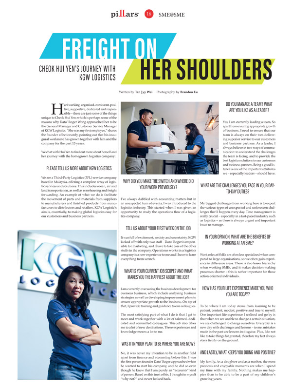 Pillars Magazine - Freight On Her Shoulders