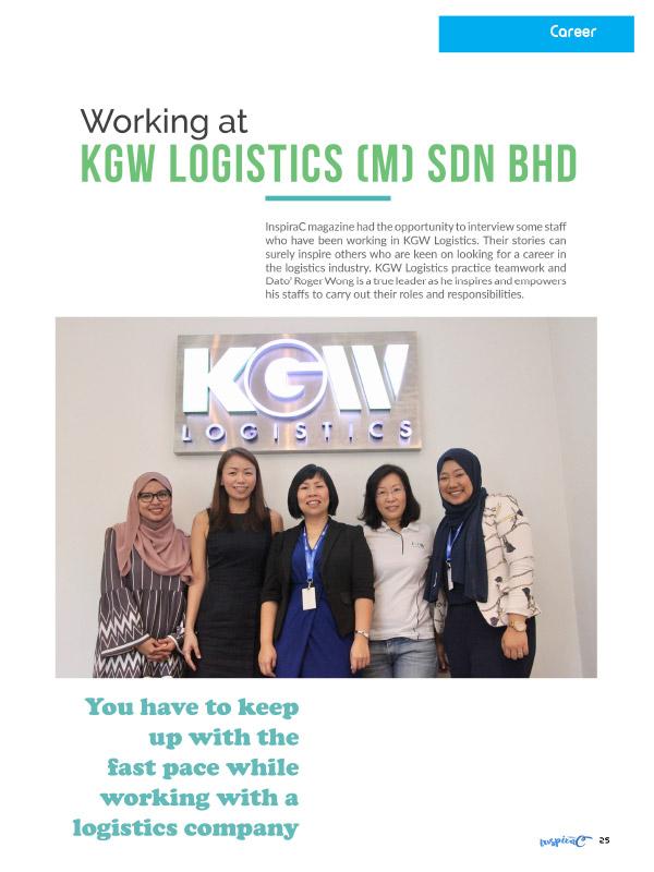 InspiraC Magazine - Working at KGW Logistics