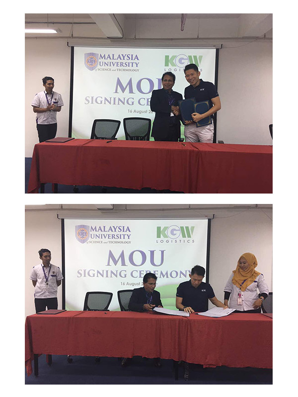 MOU Signing between KGW Logistics and Malaysia University of Science and Technology